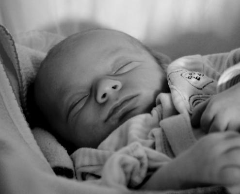 Baby som sover på rygg