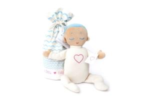 Lulla Doll sovedukke med hvit støy